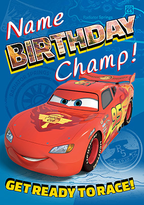 Disney Cars - Birthday Card Champ