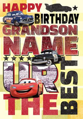 Disney Cars - Birthday Card Grandson