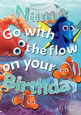 Finding Dory - Birthday Card Go with the Flow