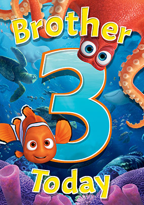 Finding Dory - Birthday Card Brother 3 Today!
