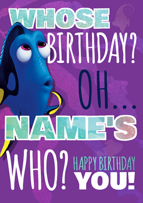 Finding Dory - Birthday Card Who's Birthday?