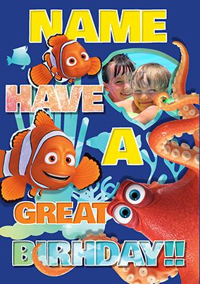 Finding Dory - Birthday Card Photo Upload Have a Great Birthday!