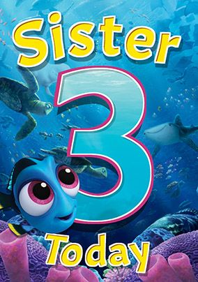 Finding Dory - Birthday Card Sister 3 Today