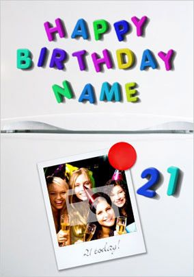 Fridge Magnets Birthday Card