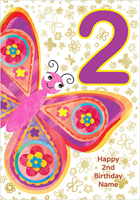 Butterfly 2 Today Birthday Card