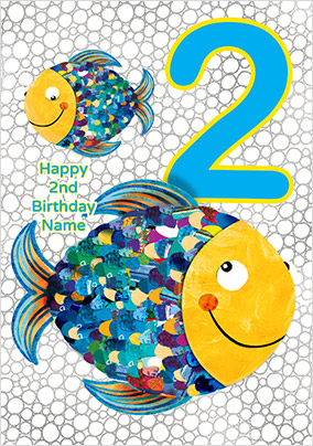Fishes 2 Today Birthday Card