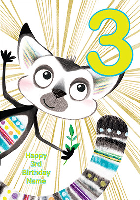 Lemur 3 Today Birthday Card