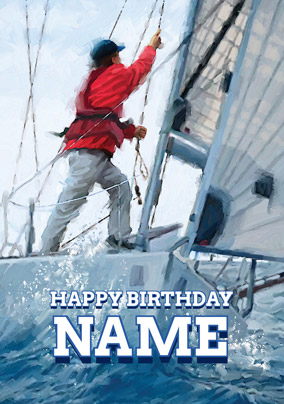 Man's World - Birthday Card Weekend Sailing