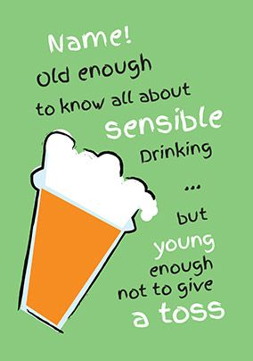 Fizz - Birthday Card Sensible Drinking