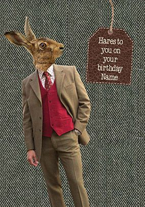 Hare Birthday Card - Hares to You