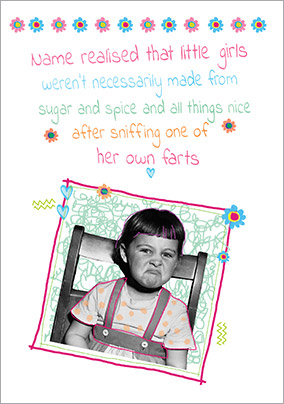Scribbles - Birthday Card Little Girls not so nice