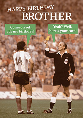 Football Brother Birthday Card