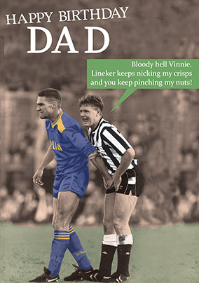 Football Dad Birthday Card - Crisps and Nuts