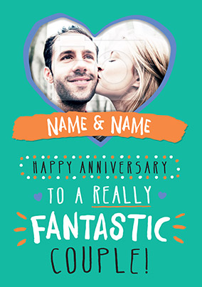 Fantastic Couple Anniversary Card - Rock Paper Awesome