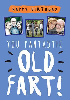 Fantastic Old Fart Birthday Card - Rock Paper Awesome