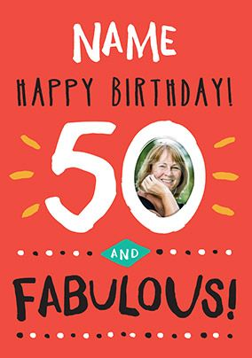 50 And Fabulous Birthday Card - Rock Paper Awesome