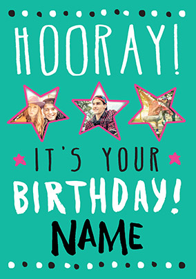 Hooray It's Your Birthday Card - Rock Paper Awesome