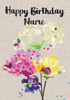 e304084f10d ... sarah kelleher - wild flowers personalised birthday card