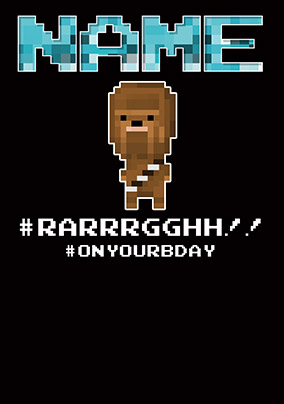 Chewbacca 8-Bit Birthday Card