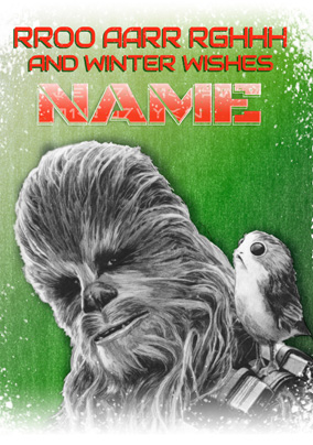 Chewbacca Christmas Card