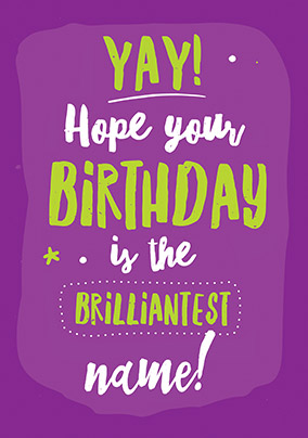 Brilliantest Birthday Personalised Card