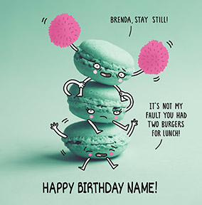 Burgers For Lunch Personalised Birthday Card
