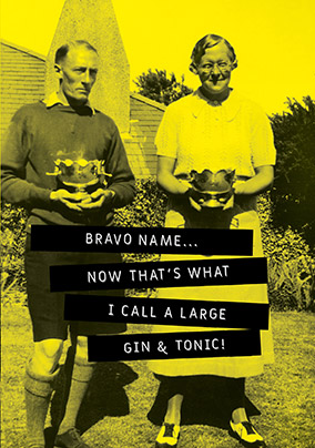 Large Gin & Tonic Personalised Card