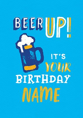 Beer Up! Personalised Card