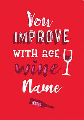 Improve With Wine Personalised Card