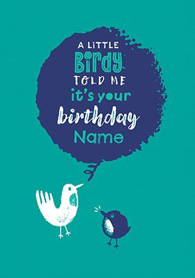 Little Birdy Personalised Birthday Card