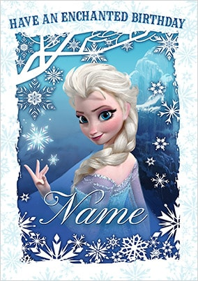 Elsa Enchanted Birthday Card - Disney Frozen