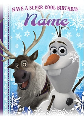 Sven & Olaf Birthday Card - Disney Frozen