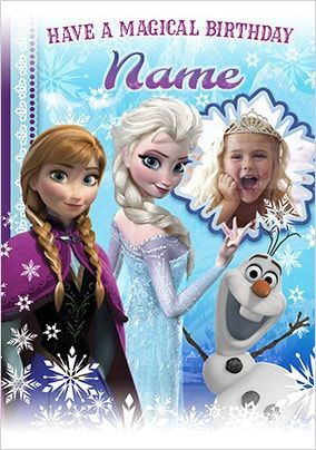 Elsa, Anna & Olaf Birthday Card - Disney Frozen