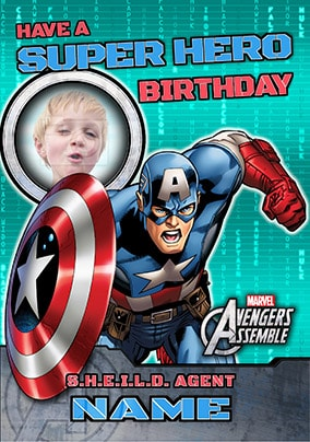 Avengers Assemble - Captain America Birthday Boy