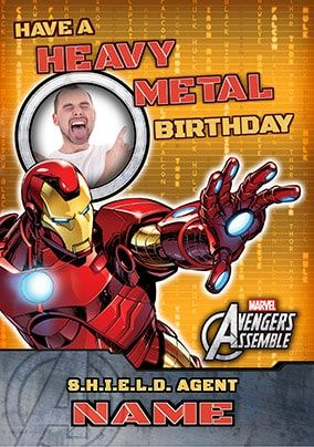 Avengers Assemble - Iron Man Heavy Metal Birthday