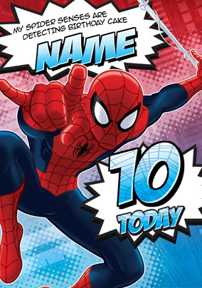 Ultimate Spider-Man Age 10 Birthday Card