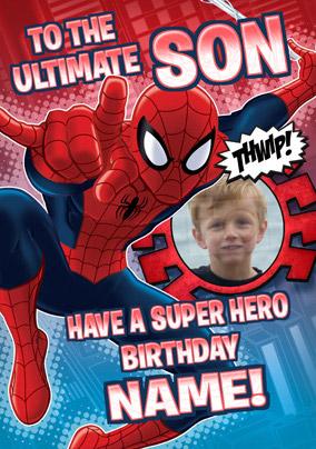 Spiderman Birthday Greeting Cards Funky Pigeon