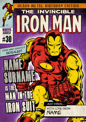 Marvel Comics - The Invincible Iron Man Birthday Card