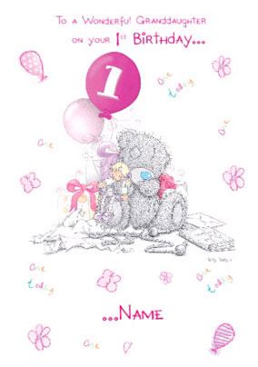 More Like This Granddaughter 1st Birthday Card