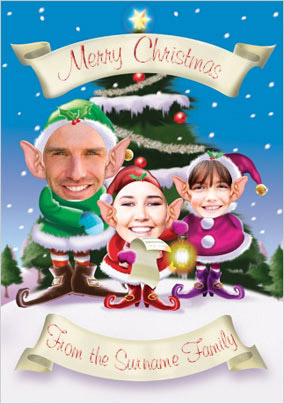 Christmas Elves Family of Three