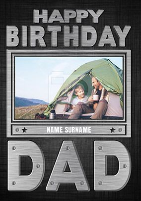 Happy Birthday Dad Photo Upload Card