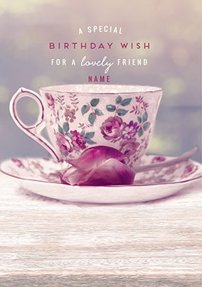 Lovely Friend Personalised Birthday Card