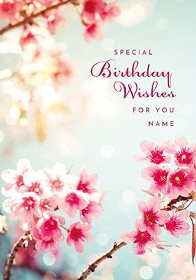Birthday Wishes For You Personalised Card