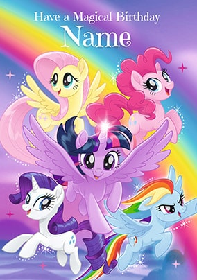 My Little Pony Magical Birthday Personalised Card