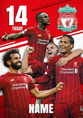 Liverpool Football Players Personalised Card