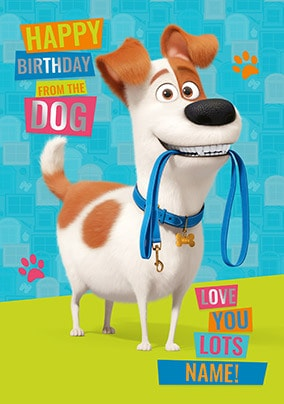 Max Secret Life Of Pets Personalised Card