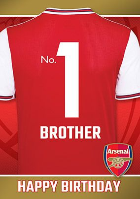 Arsenal Brother Birthday personalised Card