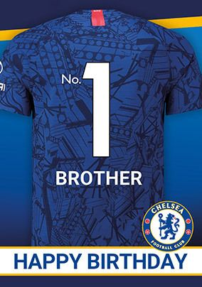 Chelsea Brother Birthday personalised Card