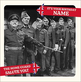 Dad's Army - The Home Guard Salute You Personalised Card