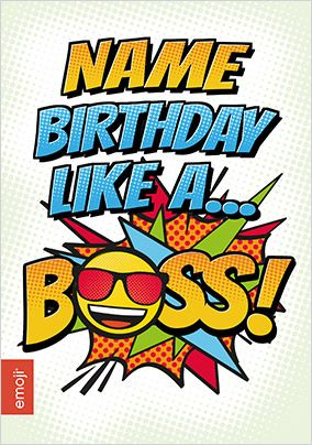 Birthday Like a Boss Emoji Card